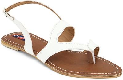 American Swan Women White Flats