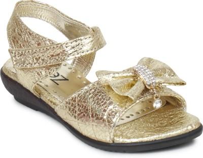 Zebra Girls Gold Sports Sandals