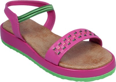 Small Toes Baby Girls Pink Sandals
