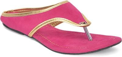 Paduki Ethnic Footwear Women Pink Flats
