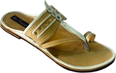 Atease Kolhapuri Men White Sandals