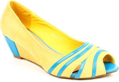 Jove Women Blue, Yellow Wedges