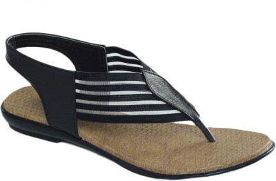 Shoe Bazar Non Leather Women Black Flats