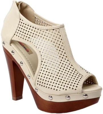 Foot Candy Women Beige Heels
