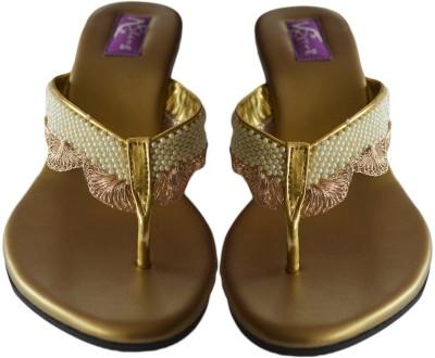 BLING FOOTWEAR Women Gold Wedges
