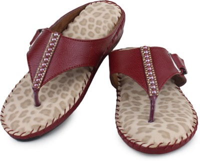 London Steps Women Maroon Flats