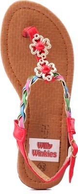 Willywinkies Girls Red Sandals