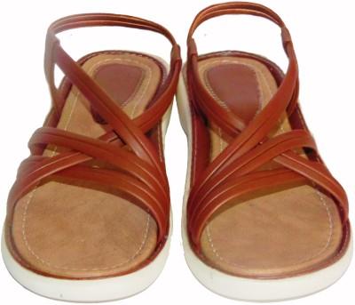 Queen Steps Women Brown Flats
