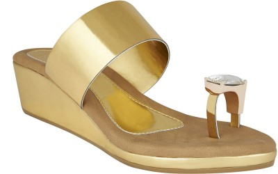 Chicopee Women Gold Flats