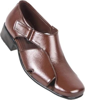 Lee Gorav Men Burgundy Sandals