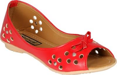 Sporch Women Red Flats