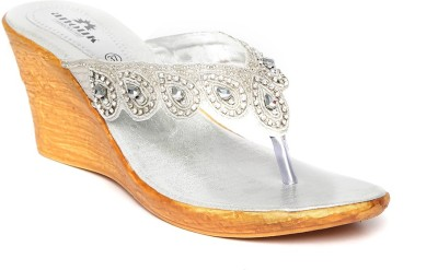 Anouk Women Silver Wedges