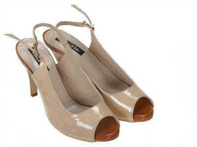 Raw Hide Women Beige, Brown Heels