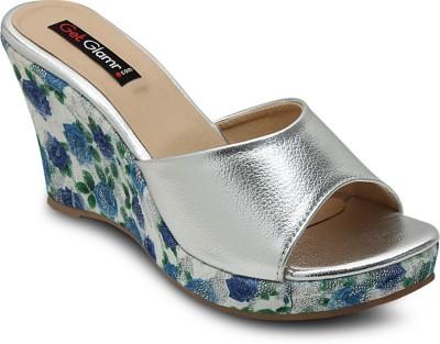 Get Glamr Women Silver Heels