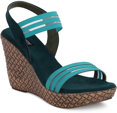 Get Glamr Women Green Wedges