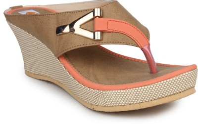 Digni Women Orange Wedges