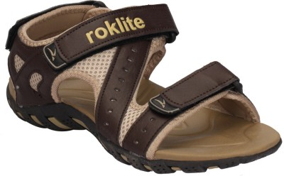 Roklite Men Brown Sports Sandals
