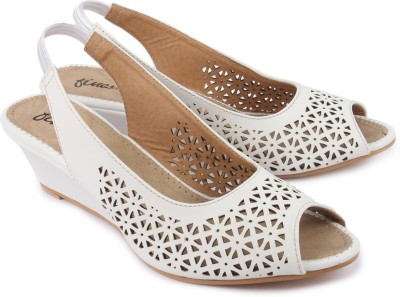 Finesse Women White Wedges