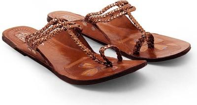 Ethnic Treat Women Brown Flats