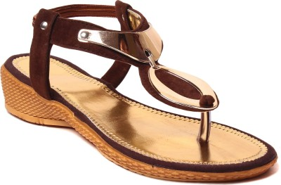 Unique Selection Women Brown Flats