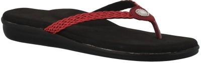 Dia One Diabetic Footwear Women Red Flats