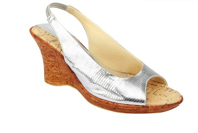 GenerationX Women Silver Wedges