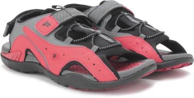 Fila Men Grey, Red Sports Sandals