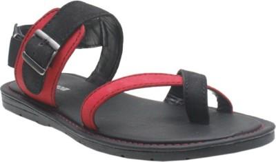 Jack Don Men Black, Red Sandals
