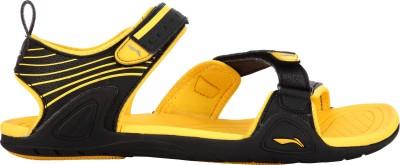 Li-Ning Men Yellow, Black Sandals