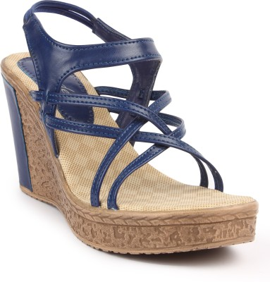 Arcade Women Blue Wedges