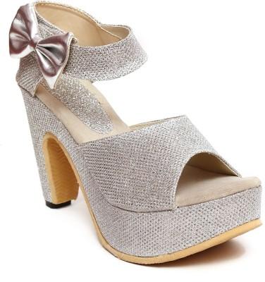 Royal Footwear Women Silver Heels