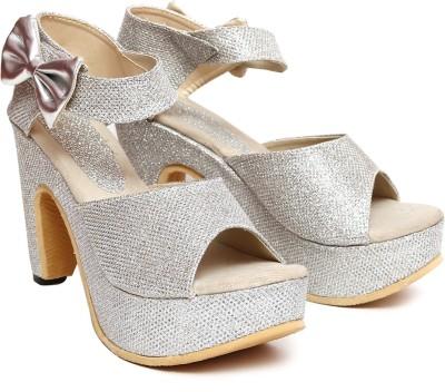 Vovina Women Silver Heels