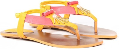 Ka Fashion Women Yellow Flats