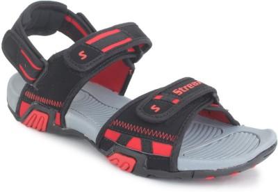SRV Men, Boys Black, Red Sandals