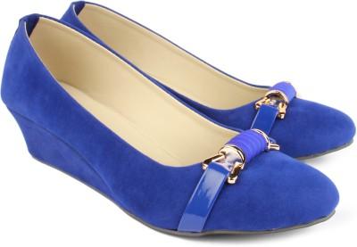 Finesse Women Blue Wedges