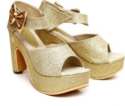Vovina Women Gold Heels