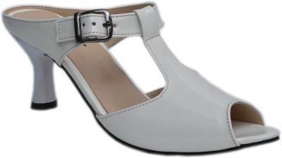 Belle Femme Women White Heels