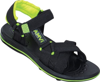 Amvi Boys Green, Black Sandals