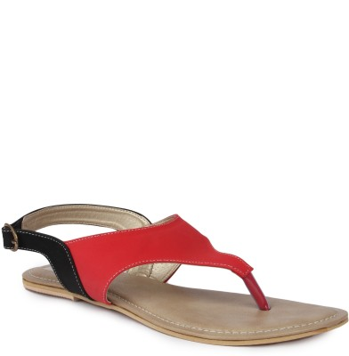 Kajjalli Women Red Flats