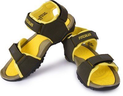 Fitcolus Men Yellow, Yellow Sandals