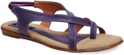 La Zilver Women Purple Flats
