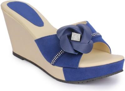 Funku Fashion Women Blue, Blue Wedges