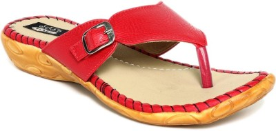 Just Flats Women Red, Beige Flats