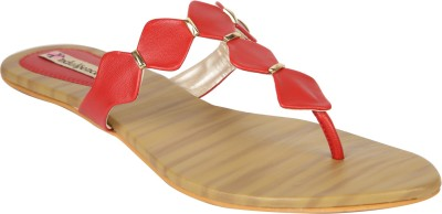 Indulgence T-Strap Red Women Red Flats