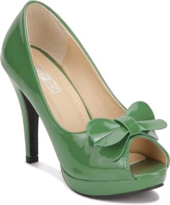 Yepme Women Green Heels
