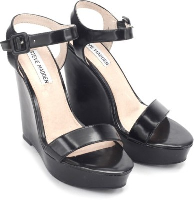 Steve Madden Prestine Women Black Wedges