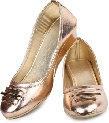 Shoetopia Women Pink Wedges