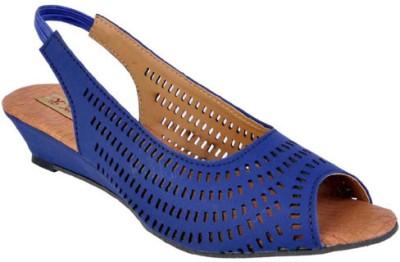 Jolly Jolla Women Blue Wedges