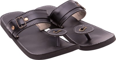 Sapphire Soft & Comfort Royal Look Men Black Sandals