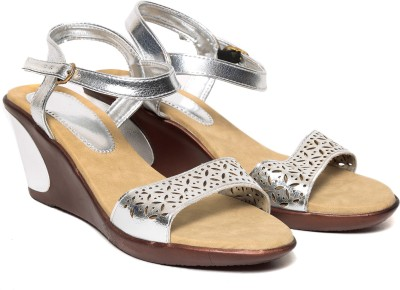 Lovely Chick Women Silver Wedges